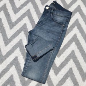 Express | Pink Side Stitching Ankle Legging Jeans